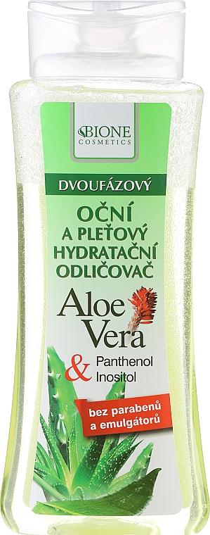 2-Phasen Make-up Entferner mit Aloe Vera - Bione Cosmetics Aloe Vera Soothing Two-phase Hydrating Make-up Removal Eyes Tonic