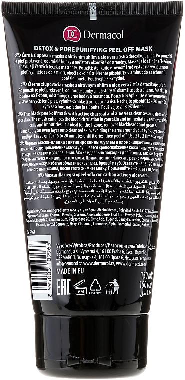 Entgiftende Peelingmaske mit Aktivkohle und Aloe Vera - Dermacol Black Magic Detox&Pore Purifying Peel-Off Mask — Bild N2