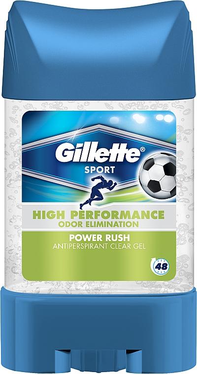 Deo-Gel Antitranspirant - Gillette Power Rush Anti-Perspirant Gel for Men