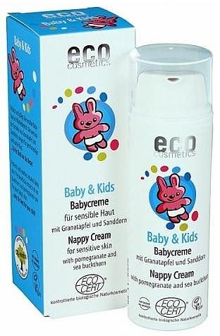 Windelcreme für Babys und Kinder mit Granatapfel und Sanddorn - Eco Cosmetics Baby&Kids Nappy Cream