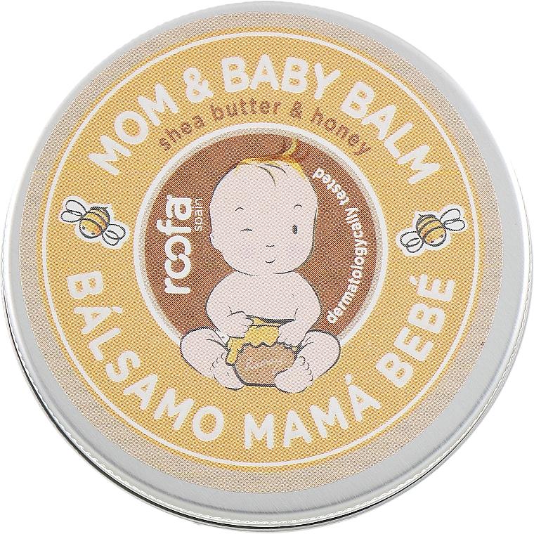 Pflegender und feuchtigkeitsspendender Körperbalsam für Mütter und Babys mit Sheabutter und Honig - Roofa Shea Butter & Honey Mom & Baby Balm