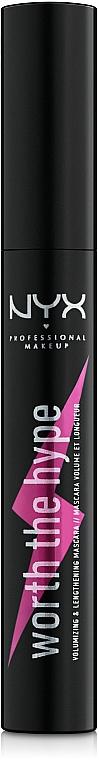 Mascara für lange und voluminöse Wimpern - NYX Professional Makeup Professional Worth the Hype Volumizing & Lengthening Mascara