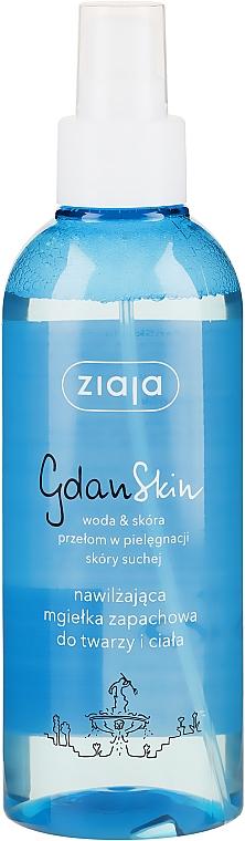 Feuchtigkeitsspendender Duftspray für Gesicht und Körper - Ziaja GdanSkin