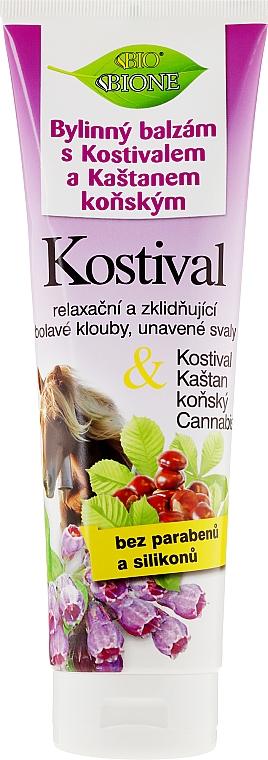 Fußbalsam mit Kastanien-, Beinwell- und Hanföl - Bione Cosmetics Cannabis Kostival Herbal Ointment with Horse Chestnut