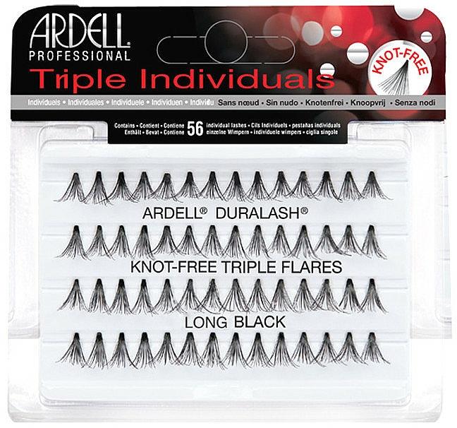 Wimpernbüschel-Set - Ardell Triple Individual Long Black
