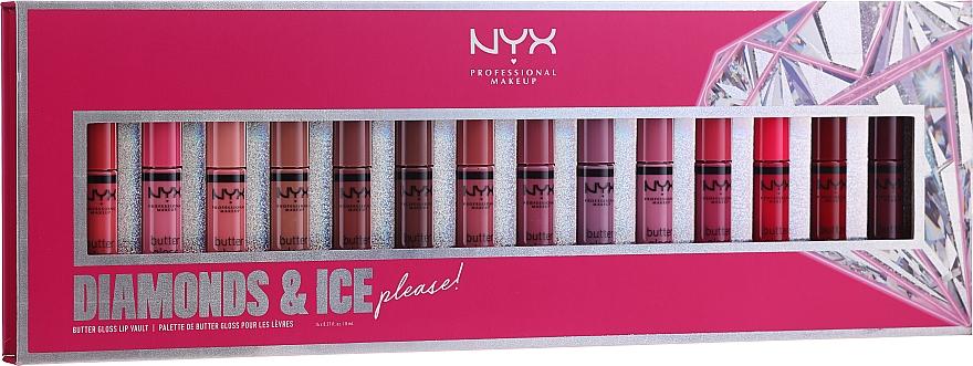 Lippenset (Lipgloss 14x8ml) - NYX Professional Makeup Diamonds & Ise