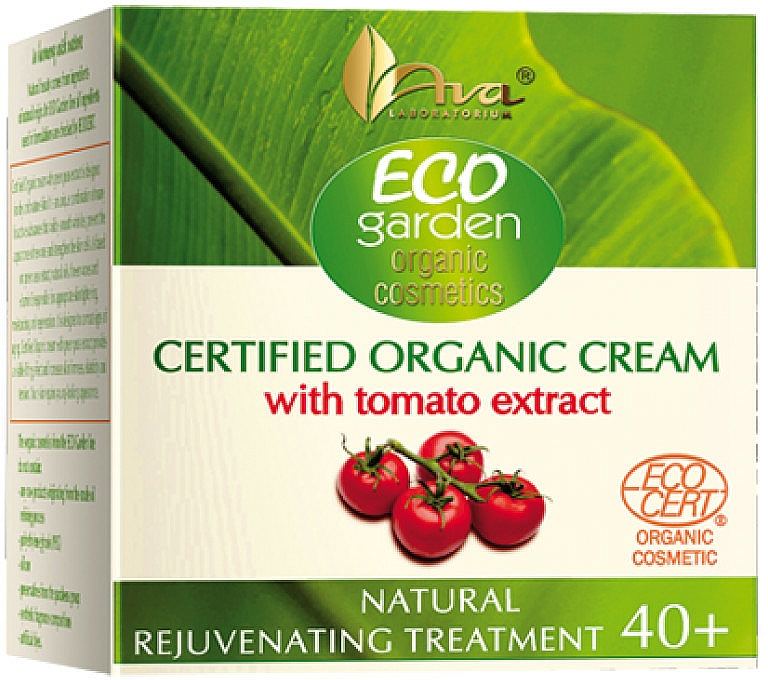 Gesichtscreme mit Tomatenextrakt 40+ - Ava Laboratorium Eco Garden Certified Organic Cream With Tomato — Bild N1