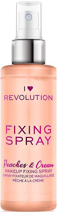 Make-up-Fixierer - I Heart Revolution Fixing Spray Peaches & Cream