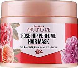 Düfte, Parfümerie und Kosmetik Haarmaske mit Hagebutte für strapaziertes Haar - Welcos Around Me Rose Hip Perfume Hair Mask