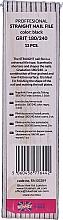 Düfte, Parfümerie und Kosmetik Nagelfeilen 180/240 RN 00289 schwarz 12 St. - Ronney Professional