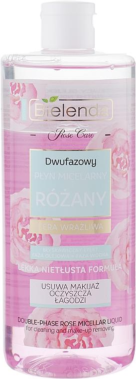 2-Phasen Rosen Mizellenwasser für empfindliche Haut - Bielenda Rose Care Two-Phase Micellar Water — Bild N1