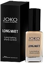 Düfte, Parfümerie und Kosmetik Langanhaltende und mattierende Foundation - Joko Long Matt