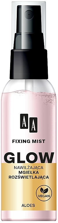 Feuchtigkeitsspendendes Make-up Fixierspray - AA Fixing Mist Glow