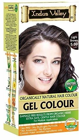Ammoniakfreie Haarfarbe - Indus Valley Gel Colour — Bild 5.00 - Light Brown
