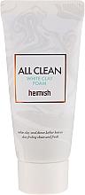 Düfte, Parfümerie und Kosmetik Gesichtsschaum mit weißer Tonerde und Hyaluronsäure (Mini) - Heimish All Clean White Clay Foam