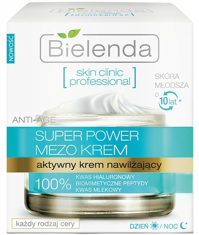 Aktive feuchtigkeitsspendende Gesichtscreme für Tag und Nacht - Bielenda Skin Clinic Professional Mezo Anti-age