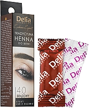 Düfte, Parfümerie und Kosmetik Henna für Augenbrauen braun - Delia Brow Dye Henna Traditional Brown