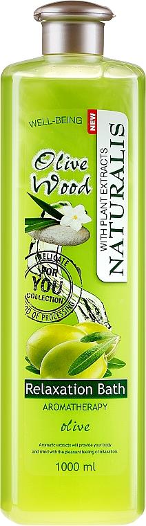 Entspannender Badeschaum mit Olivenextrakt - Naturalis Olive Wood Relaxation Bath