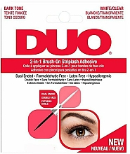 Düfte, Parfümerie und Kosmetik Doppelseitiger hypoallergener Wimpernkleber - Ardell Duo Adhesive 2in1 Lash Brush On Clear&Dark