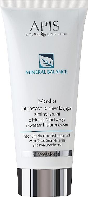 Intensiv pflegende Gesichtsmaske mit Mineralien aus dem Toten Meer - APIS Professional Hydro Balance Intensively Nourishing Mask
