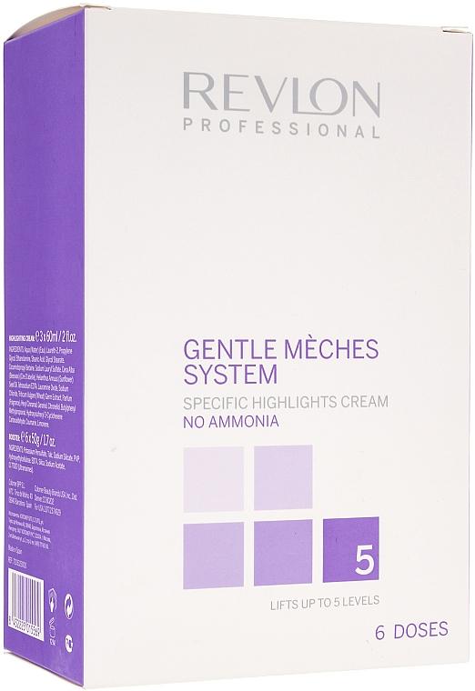 Set Strähnencreme ohne Ammoniak(3x60ml) + Booster(6x50g) - Revlon Professional Gentle Meches System