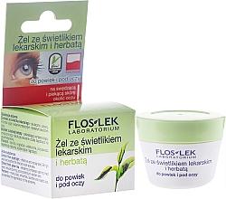 Düfte, Parfümerie und Kosmetik Augenkonturgel mit grünem Tee und Augentrost - Floslek Lid And Under Eye Gel With Eyebright And Green Tea