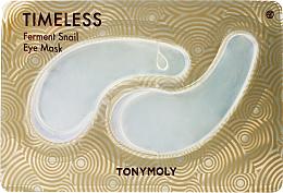 Düfte, Parfümerie und Kosmetik Hydrogel-Augenpatches mit Schneckenschleimfiltrat - Tony Moly Timeless Ferment Snail Eye Mask