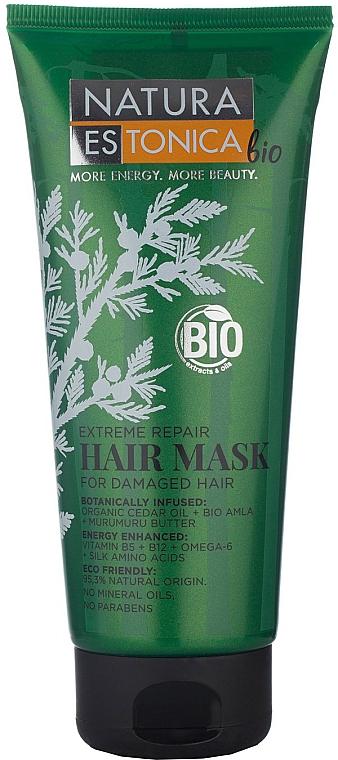 Haarmaske für geschädigtes Haar mit Bio-Amla, Zedernöl und Murumurubutter - Natura Estonica Extreme Repair Hair Mask — Bild N1