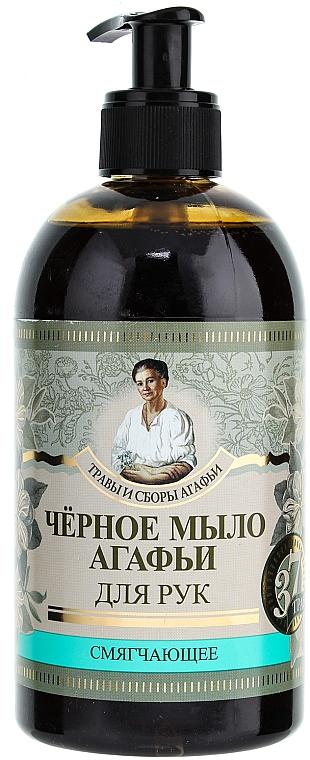 Schwarze sibirische Flüssigseife für die Hände - Rezepte der Oma Agafja Kräuter und Kräutertees