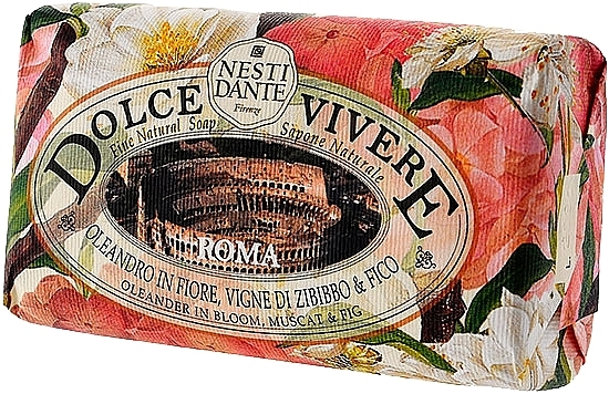 Naturseife Roma - Nesti Dante Natural Soap Oleander in Bloom, Muscat & Fig Dolce Vivere Collection