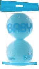 Düfte, Parfümerie und Kosmetik Badeschwamm-Set 2 St. blau - Suavipiel Baby Soft Sponge
