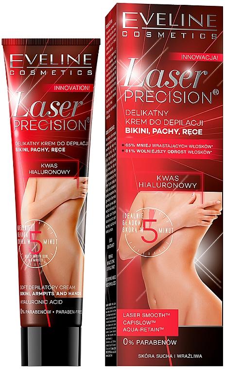 Sanfte Enthaarungscreme für Bikinizonen, Achseln und Hände - Eveline Cosmetics Laser Precision