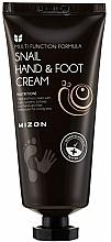 Düfte, Parfümerie und Kosmetik Hand- unf Fußcreme mit Schneckenschleim-Extrakt - Mizon Snail Hand And Foot Cream