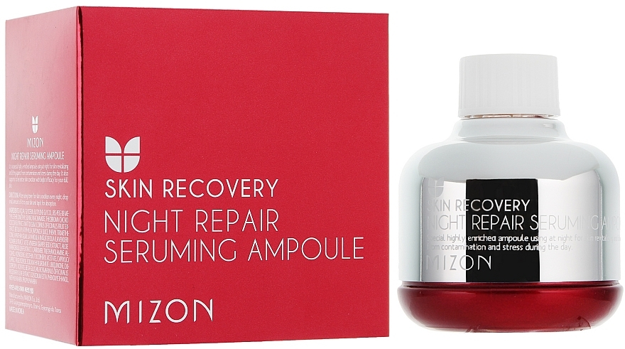 Regenerierendes Nachtserum für müde Haut - Mizon Night Repair Seruming Ampoule