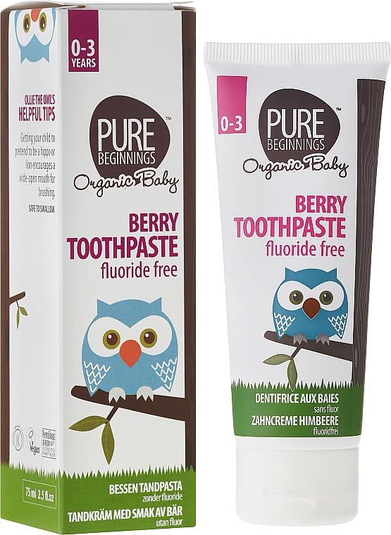 Fluoridfreie Kinderzahnpasta 0-3 Jahre mit Himbeergeschmack - Pure Beginnings Baby Berry Toothpaste