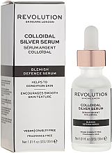 Düfte, Parfümerie und Kosmetik Pflegendes Gesichtsserum mit antibakteriellen Eigenschaften - Revolution Skincare Colloidal Silver Serum