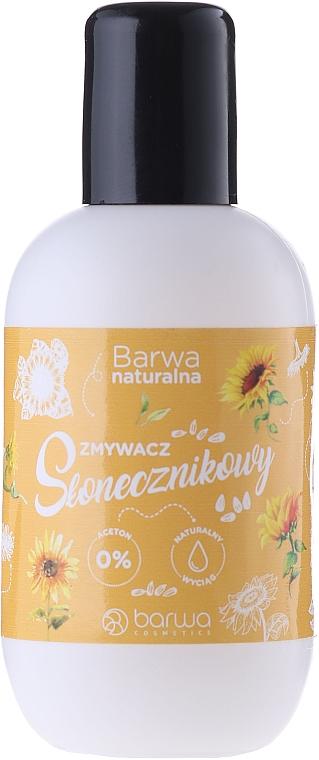 Acetonfreier Nagellackentferner mit Sonnenblumenextrakt - Barwa Natural Nail Polish Remover