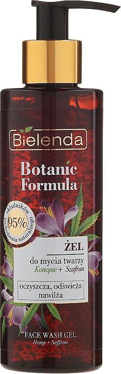 Gesichtsreinigungsgel - Bielenda Botanic Formula Hemp Oil + Saffron Moisturizing Face Wash Gel