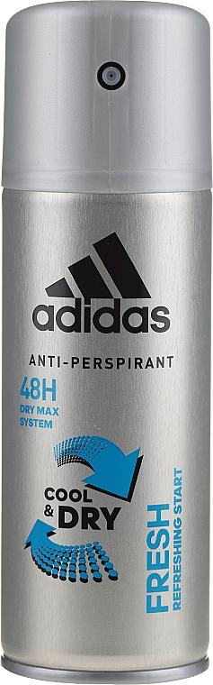 Deospray Antitranspirant - Adidas Anti-Perspirant Fresh Cool & Dry 48H — Bild N1