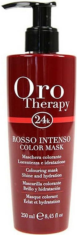 Maske für mehr Leuchtkraft und Glanz für coloriertes Haar - Fanola Oro Therapy Colouring Mask
