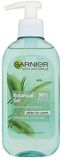 Gesichtsreinigungsgel - Garnier Skin Naturals Botanical Gel Green Tea Leaves