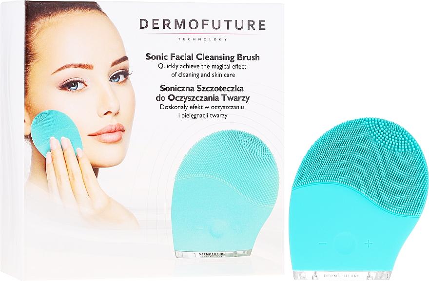 Elektrische Gesichtsreinigungsbürste aus Silikon minze - Dermofuture Technology