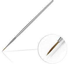 Düfte, Parfümerie und Kosmetik Nageldekoration-Pinsel 10 mm Silver - Silcare Brush 02