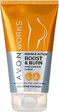 Düfte, Parfümerie und Kosmetik Anti-Cellulite Körperlotion mit Koffein und Weißdorn - Avon Works Double Action Boost & Burn Anti-Cellilite Lotion