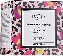 Düfte, Parfümerie und Kosmetik Glättende Körpercreme - Baija French Pompon Rose Litchi Body Cream