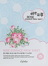 Düfte, Parfümerie und Kosmetik Tuchmaske für das Gesicht mit Rosenblütenwasser - Esfolio Pure Skin Essence Rose Mask Sheet