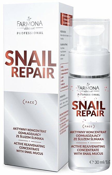 Aktiv verjüngendes Gesichtskonzentrat mit Schneckenschleim - Farmona Professional Snail Repair Active Rejuvenating Concentrate With Snail Mucus