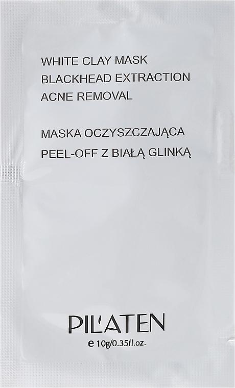Peel-Off-Maske gegen Akne mit weißem Ton - Pilaten White Clay Mask Blackhead Extraction Acne Removal (Probe)