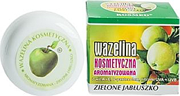 Düfte, Parfümerie und Kosmetik Feuchtigkeitsspendende und regenerierende Vaseline mit grünem Apfelduft für trockene und rissige Lippen mit Vitamin A und E - Kosmed Flavored Jelly Green Apple