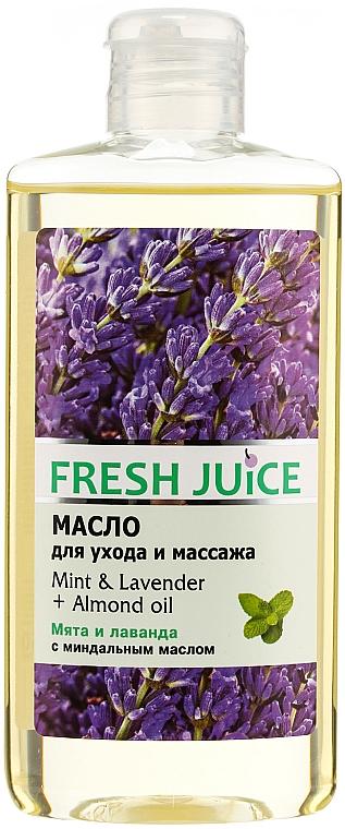 Pflege- und Massageöl für den Körper mit Minze, Lavendel und Mandelöl - Fresh Juice Energy Mint&Lavender+Almond Oil